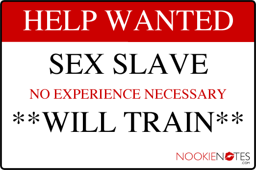 Help Wanted: Sex Slave