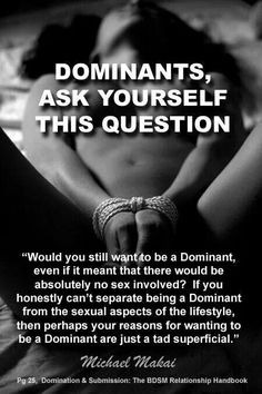 Dominants, Ask Yourself This Question