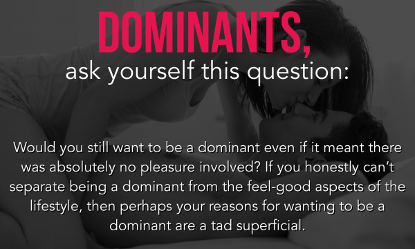 Dominants, Ask Yourself This Question: