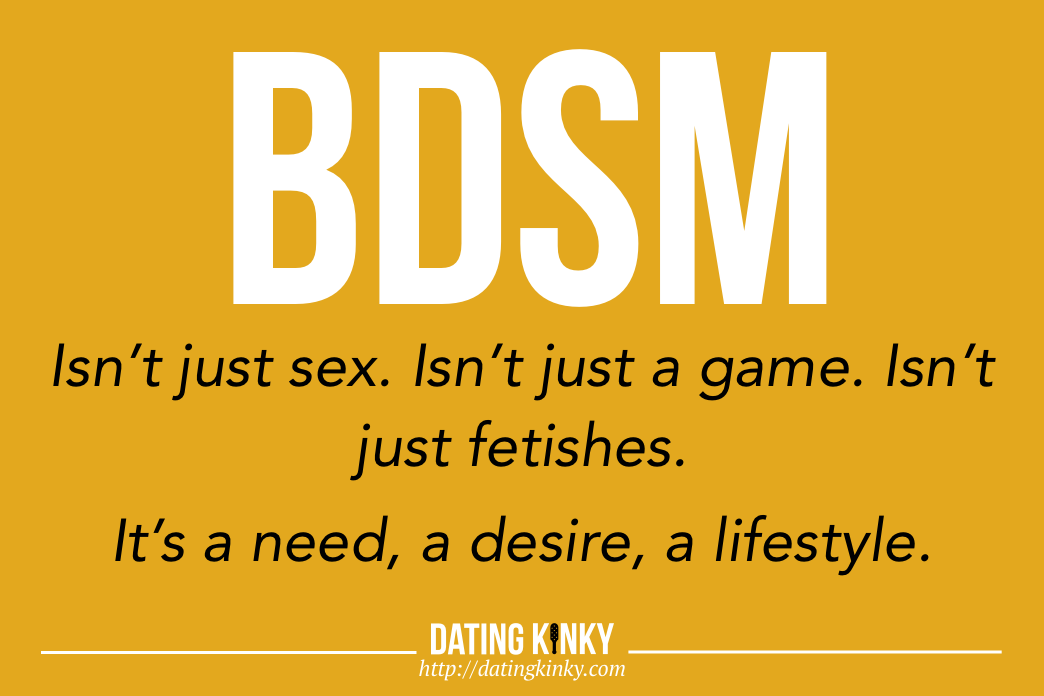BDSM Isn't Just Sex