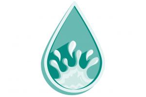 A droplet representing wetness.