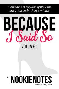 Because I Said So, Volume 1 cover