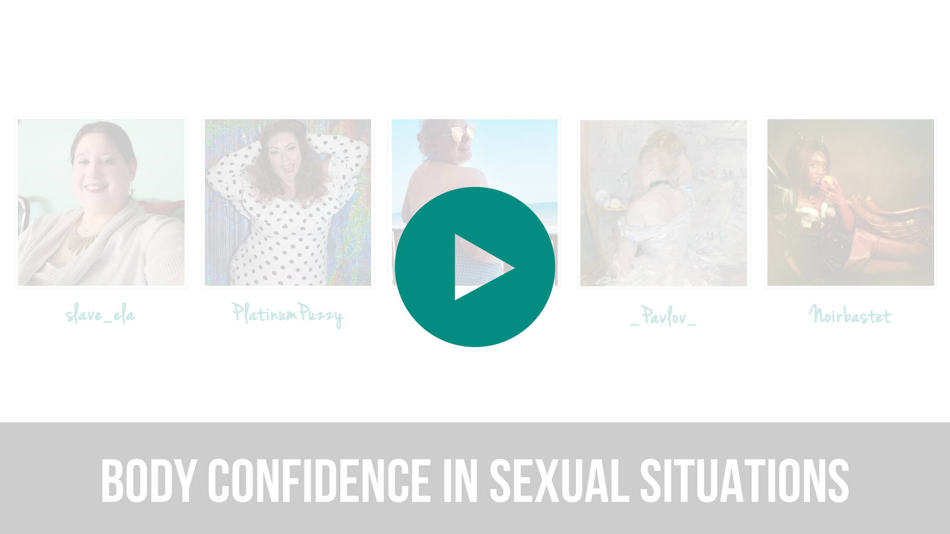 Body Confidence in Sexual Situations