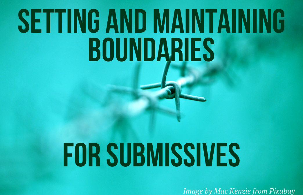 Setting and maintaining boundaries: for submissives.
