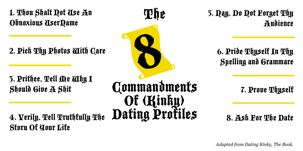 The 8 Commandments of Kinky Dating Profiles