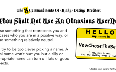 Thou Shalt Not Use An Obnoxious UserName