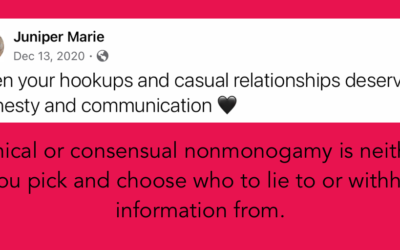 Ethical and consensual applies to your hookups, too!